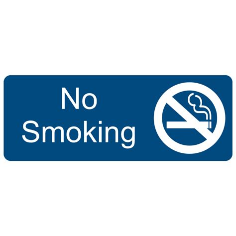 no smoking sign blue no smoking white on blue engraved sign egre 460 sym whtonblu