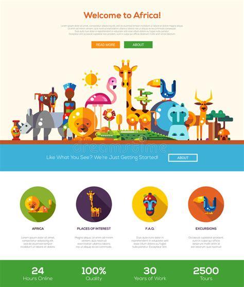 header design elements traveling to africa website header banner with webdesign