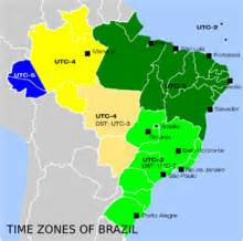 Brazil Time Zone Map by Brazil Travel Guide At Wikivoyage