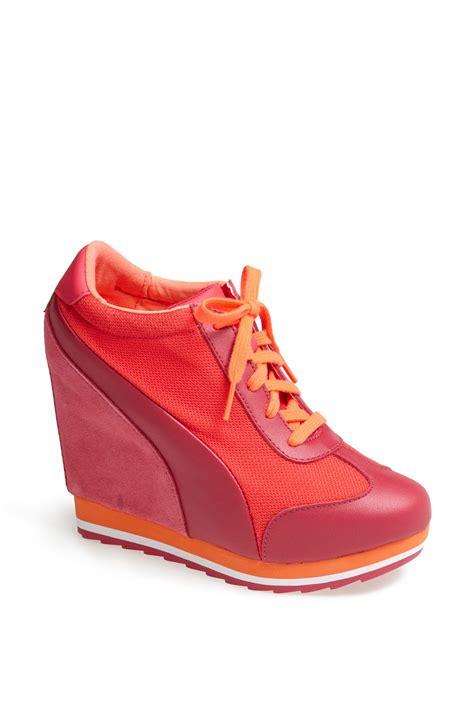 sneaker wedges maderia winter wedge sneaker in pink pink