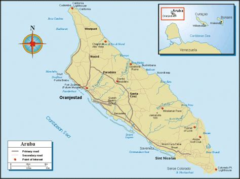 caribbean map aruba aruba map and aruba satellite images