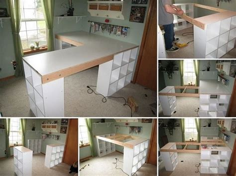Diy Office Desk Ideas Diy Project Custom Craft Desk Home Design Garden Architecture Magazine