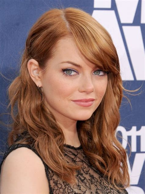 emma stone hairstyle emma stone hair color hair colar and cut style