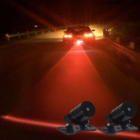 Laser Fog Light 1 Car Rear Led Laser Anticollision Fog Light Brake