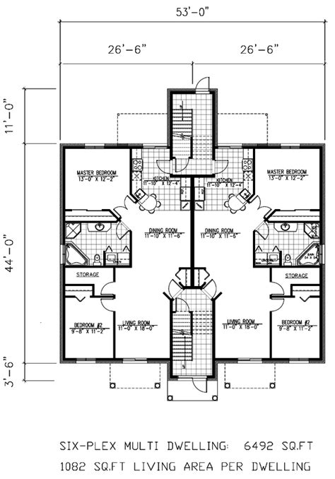 6 plex floor plans multi family house plans multi plex home floor plans at