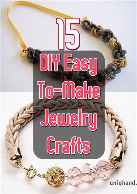 15 diy easy to make jewelry crafts diy craft projects
