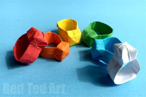 making origami rings easy origami ring diy red ted art s blog