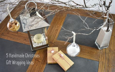 5 handmade christmas gift wrapping ideas