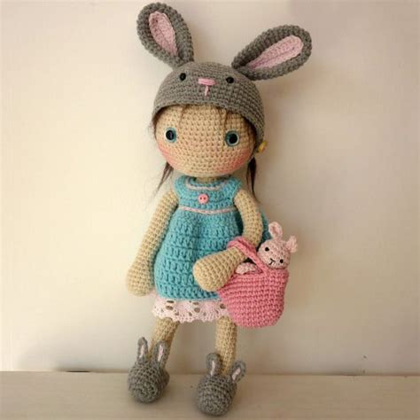 design doll lily crochet free pattern lily doll with rabbit hat and