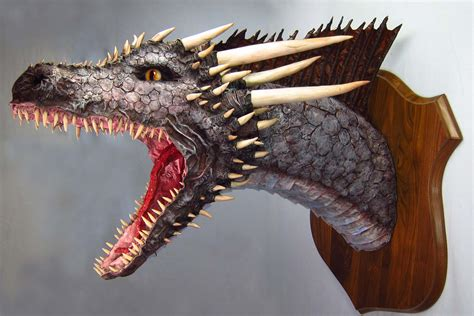 How To Make A Paper Mache Trophy - paper mache drogon version painting