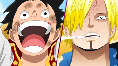 Onepiece Luffy Sanji Zoro luffy vs sanji one 843 ワンピース chapter review