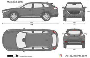 the blueprints vector drawing mazda cx 9