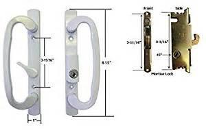 Sliding Glass Patio Door Handle Set Sliding Glass Patio Door Handle Set With Mortise Lock White Keyed 3 15 16 Quot Holes