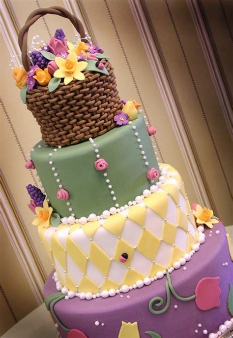 beautiful easter cakes flower basket easter cake my easter time pinterest