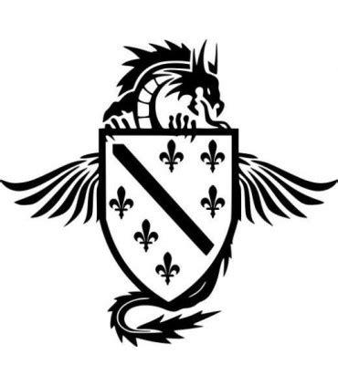 Blaues X Aufkleber Auto Bedeutung by Car Tattoo Aufkleber Bosnien Wappen Mit Drachen
