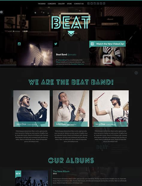 bootstrap themes free band 25 responsive bootstrap 3 html website templates web