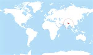 Location Of Nepal In World Map by Where Is Nepal Located On The World Map