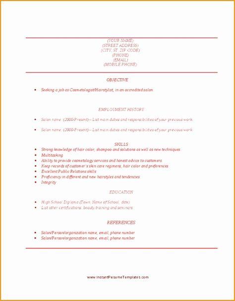 Cosmetology Resume Objective by 4 Fashion Resume Objective Sle Free Sles Exles Format Resume Curruculum Vitae
