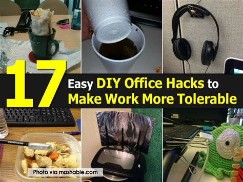 17 easy diy office hacks to make work more tolerable
