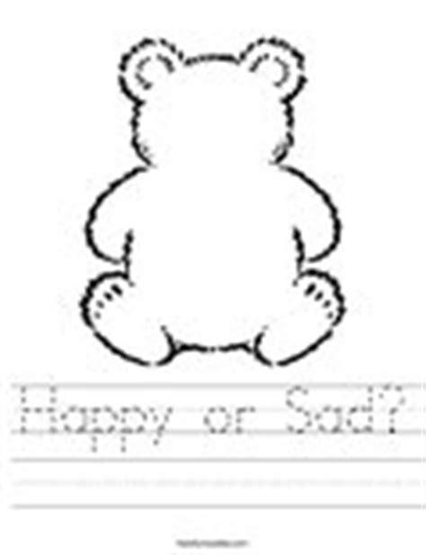 sad bear coloring page happy or sad worksheet twisty noodle