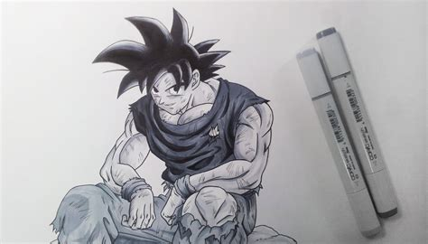 dibujos a lapiz increibles drawing goku black and white youtube