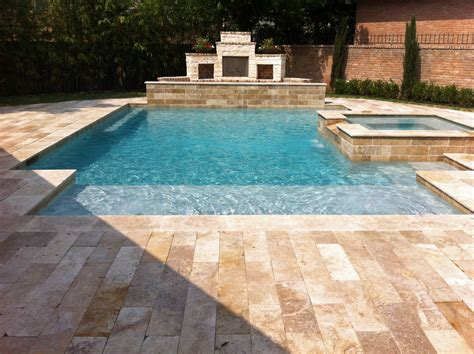 Backyard Pools Cleveland Tn Geometric Pool With Spa Outdoor Fireplace Artistry