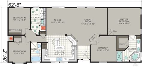 mobile home floorplans casita iii tl42744a manufactured home floor plan or