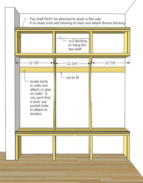 mudroom locker plans diy ana white smiling mudroom diy projects