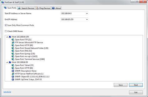 port scan tools portscan 1 62 network tools fileeagle
