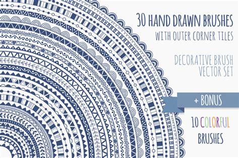 illustrator pattern brush corners free ribbon decorative brush pack for illustrator