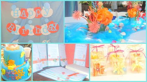 the sea theme decorations stylish birthday ideas for