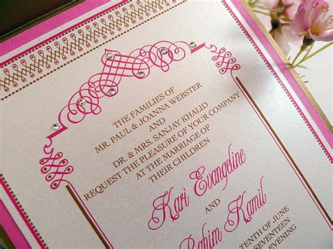 south asian inspired wedding invitations