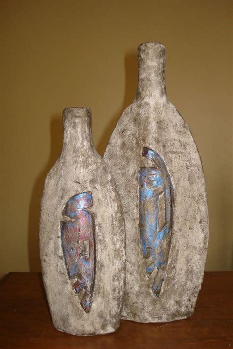 floreros rusticos de madera jarrones rusticos papel mach 233 pinterest jarrones