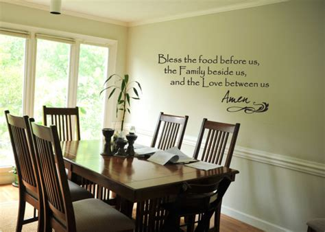 wall decal bless the food before us from yourdecorstore