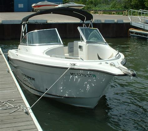 used striper boats for sale in michigan reduced 2004 striper 2101 dual console the hull truth