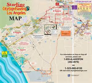 Los Angeles Tourist Map by Los Angeles Map Of Attractions