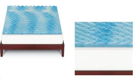 kohls bed toppers kohl s gel memory foam mattress topper only 25 49 reg