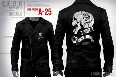 desain jaket crows zero t f o a leather jacket a25 fashion cowok jaket crows