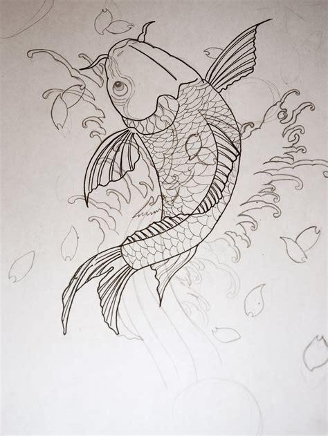 Koi Fish Tattoo Sketch | koi fish tattoo sketch by jrsalido218 on deviantart