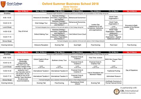 Oxford Mba Questions by 2018 Oxford Easter Programme Draft Busi Tt Summer