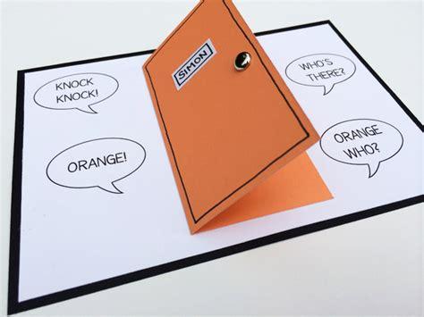joke card templates a knock knock joke birthday card swartley