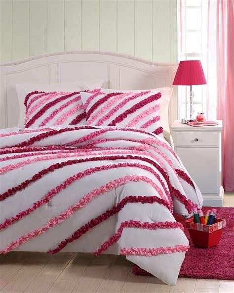 ruffle comforter twin twin mckenzie mini ruffle comforter set pink ebay