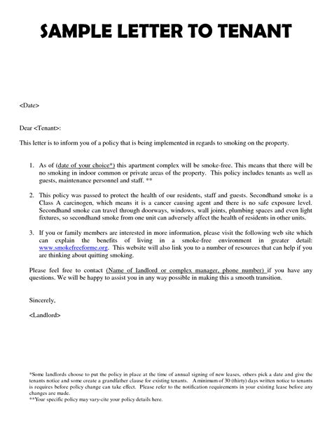 Letter To Management Best Photos Of New Tenant Notice Letter Template Lease