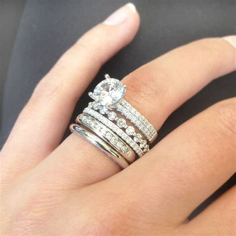 beautiful stacked wedding rings 3 stackable wedding