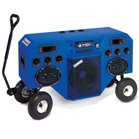 backyard stereo system mobile blastmaster is a towable 2000w stereo speaker