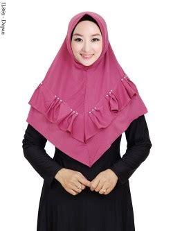Jilbab Ped Rempel Renda pusat grosir baju muslim murah terbaru