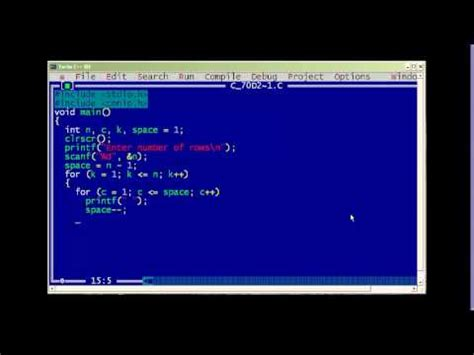 c pattern programs youtube c program to print diamond pattern youtube