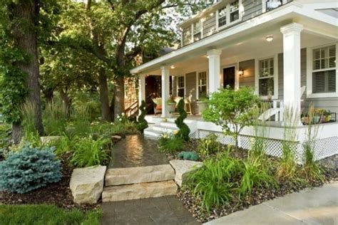 Landscaping Ideas For Front Of House With Porch Front Front Porch Landscaping Ideas
