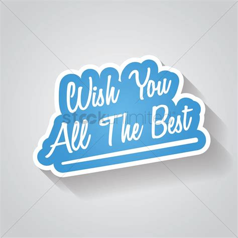 wish the best wish you all the best sign vector image 1827951