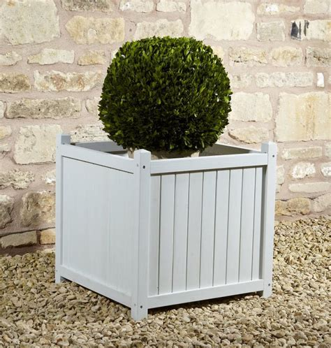 Square Shabby Chic by Square Shabby Chic Pine Planter H50cm 163 39 99